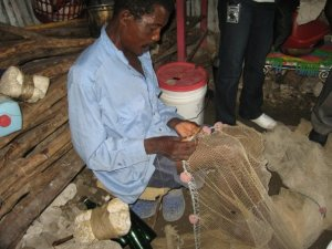 Making a fishing net