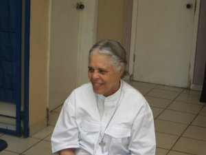 Sister Mallle Fenna who runs a home for elderly Haitians.