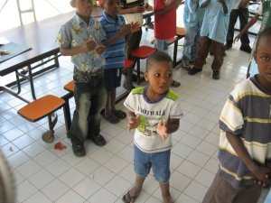 A young boy at the Notre Dame de l'Espoir Boys Home