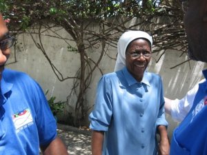 Sister Flore who runs the Notre Dame de l'Espoir Boys Home